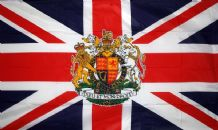 UNITED KINGDOM WITH ROYAL CREST (UNION JACK) - HAND WAVING FLAG (MEDIUM)